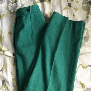 VINTAGE / green wool trousers